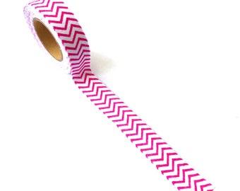 Fabric Tape Pink Chevron