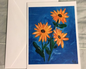 Note Card Daises 3