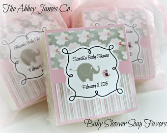 Baby shower soap favors, Abbey James, shower favors, baby shower elephant favor