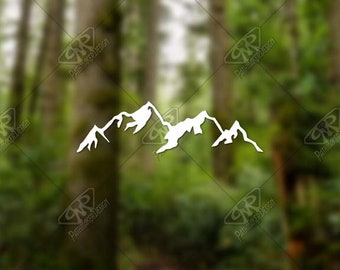 DECAL [Mountains] Vinyl Decal, Bumper Sticker, Car Window Decal, Car Decal, Laptop Decal, Adventure Decal, Water Bottle Decal