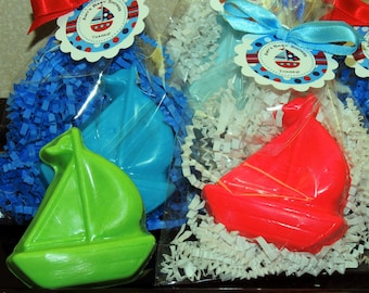 10 Sail Boat Soaps, Nautical Baby Shower, Boy Baby Shower, Boy Birthday, Party Favors, Soap Favors