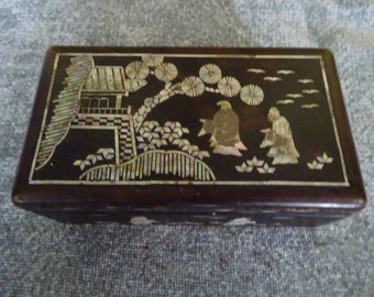 Chinese mother of pearl inlay box