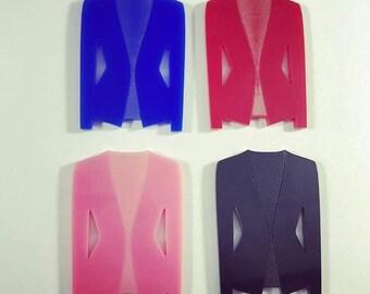 Laser cut acrylic blazer
