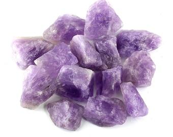 Rough Crystals - Amethyst, Rose Quartz, Hematite, Blue Calcite - Natural - Reiki