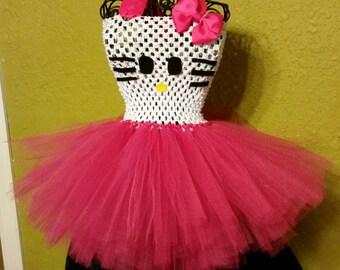 Hello kitty inspired tutu dress