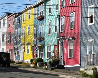 Jelly Bean Houses, St. John's Newfoundland   5 x 7 Print