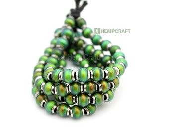 6mm Mood Beads, 4pc Metal Lined Mood Beads, Color Changing Thermo-Sensitive Beads (MB8)