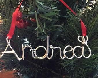 Christmas Tree Ornaments,,Andrea ornament,Personalized Baby's First Christmas Ornament, Personalized Ornament,