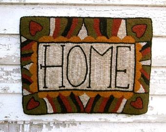 HOME - DIGITAL/PDF Rug Hooking Pattern - from Notforgotten Farm™