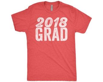 2018 Grad, Class Of 2018, Graduation Gift, Junior High, High School Graduation Cap, College Student, Next Level Apparel Tri-Blend Shirt