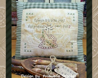 Patience-Primitive Stitchery E-PATTERN-INSTANT DOWNLOAD