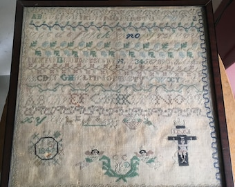 Antique Embroidery Sampler from 1842