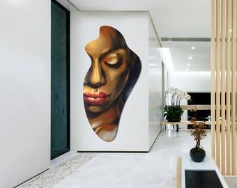 """Original acrylic painting """"black muse"""""""