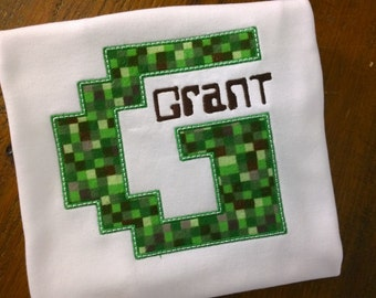 Crafty Mine Video Game themed shirt