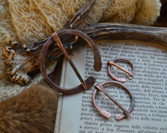 Shawl pin, shawl copper pin, penannular brooch, copper pin, Anglo-Saxon pin, AngloSaxon pin, penannular shawl pin, recycled copper shawl pin