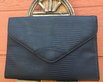 1980's Vintage Blue Shoulder Bag