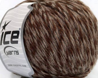 ICE SALE CAMEL WOOL AND 50G FINGERING BROWN 4 / / 51