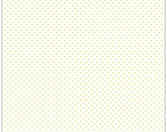 20% OFF Riley Blake Designs Swiss Dots Yellow on White