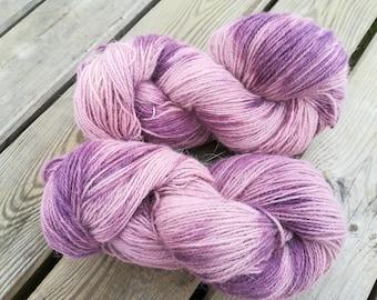 french angora merino yarn plum - knitting crocheting