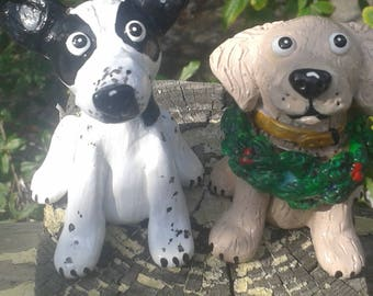 Custom Clay Sculpture of your Dog, Great Gift for a Pet Lover, Dog Sculpture, clay dog figurine, keepsake