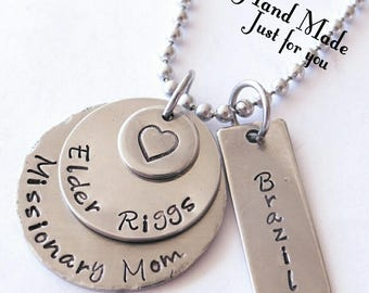 Missionary Mom Necklace, LDS Mission, LDS, Mission Jewelry, Missionary Mom