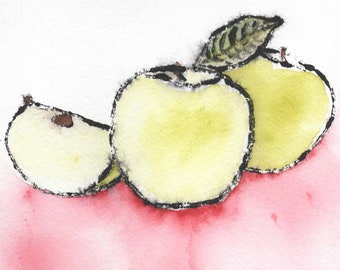 Apples - Original Watercolor