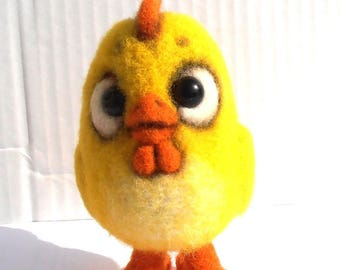 Plush collection felted little Easter chick