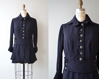 Edwardian wool jacket | 1910s walking jacket | gabardine wool Edwardian coat