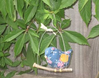 Hanging fabric bird