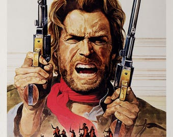 The outlaw Josey Wales 1976 Clint Eastwood movie poster reprint 19x12.5 inches