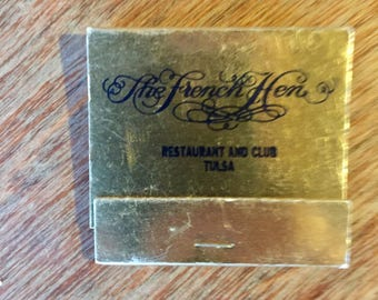 Vintage Matchbook from The French Hen Restaurant in Tulsa, Oklahoma