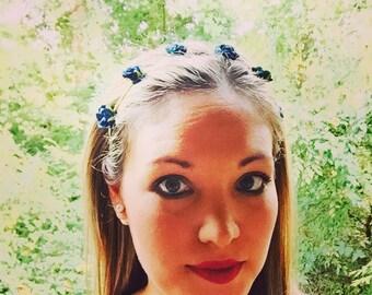 Flower Crown Headband, Birthday Crown, Rose headband, Flower Girl Headband, photo prop, Girls Flower Crown, Newborn Flower headband