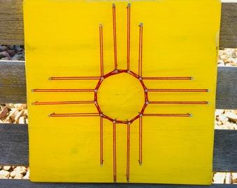 New Mexico Flag String Art