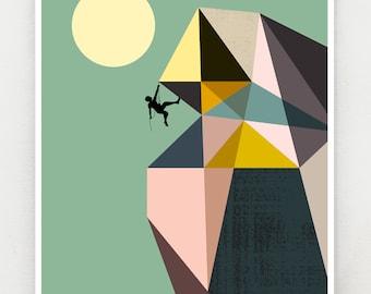 Mountain climber, print