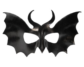 Leather Mask - Goth / Bat / Wing