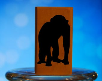 Big Monkey Rubber Stamp Mounted Wood Block Art Stamp
