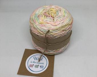Hand Dyed 4 ply Superwash Merino - Unicorn Rainbow