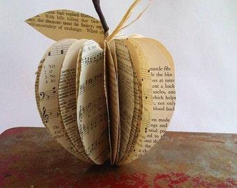 Shabby Chic Vintage Paper Apple