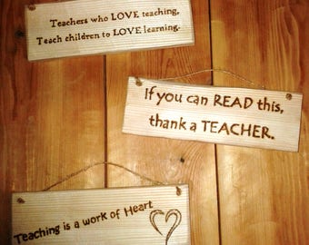 Teacher's Present - a sign to say thank-you