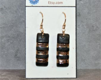 Gold Karate Black Belt Earrings (THIRD DEGREE lady)! Celebrate your rank or honor your family members acheivement!
