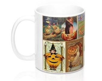 Vintage Halloween Jack-O-Lantern Postcards Graphic Coffee Mug 11 or 15 oz