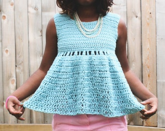 The Whimsy Crochet Top Pattern. Instant Download!