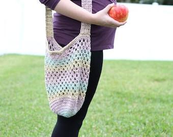 Crochet Farmer's Market Bag PATTERN pdf instant digital download