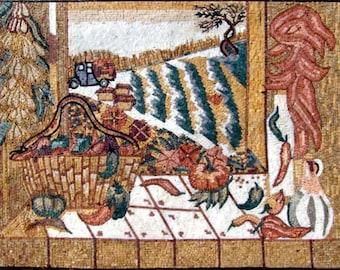 Mosaic Art For Sale- Kitchen Scene