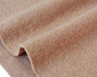 Fabric wool soft fluid color camel 120x128cm