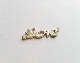 Connector silver Love charm
