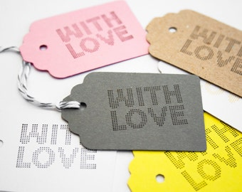 10 small rectangular gift Tags