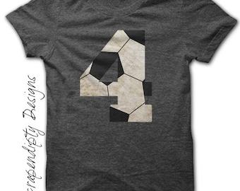 Soccer Number Iron on Transfer - Iron on Custom Soccer Shirt / Toddler Birthday Party / Customized Soccer Mom Shirt / DIY Printable IT456