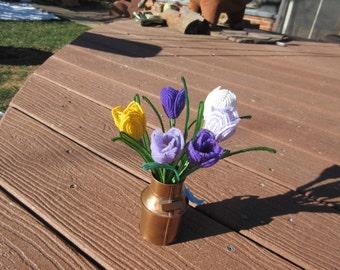 Crocuses- Dee's French Beaded Flowers