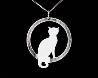 White  Cat Pendant, Kitten Pendant , Pet Jewelry, Cat Jewelry, Cat Lover Pendant, Enamel Pendant, Everyday Pendat, Cat Jewelry Set